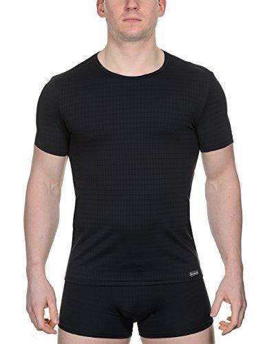 Herren Check Shirt (Bruno Banani Herren Unterhemd Shirt Check Line, Gr. Large (Herstellergröße: 6), Schwarz (schwarz karo 125))