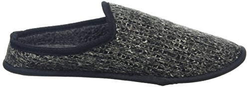 New Look Knitted Slipper, Chaussons homme Gris foncé