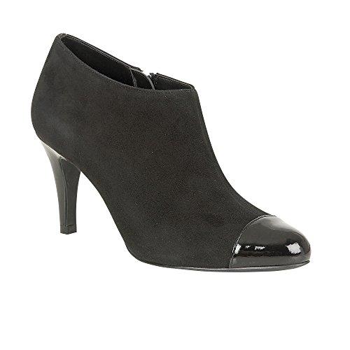 Lotus Femme Kari en daim noir/brillant Lotus Chaussures Bottes Noir - noir