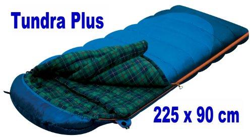 Alexika Deckenschlafsack Schlafsack Thermo / warm TUNDRA PLUS - 225x90 cm - blau - Innenflanell - bis -18°C
