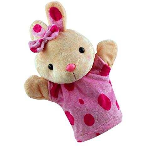 Niedlichen Cartoon Tier Puppe Kinder Handschuh Fingerpuppen Handpuppe Weichem Plüsch Spielzeug Geschichtenerzählen (D) (Handpuppe Schnecke)