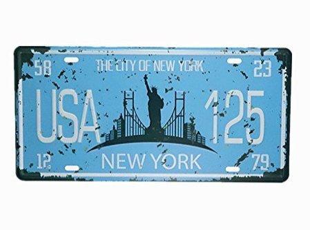 """Eureya - Plaque d'immatriculation de voiture - Décoration murale vintage pour maison, café, bar, pub, restaurant, exposition, Métal, Usa 125, 6""""x12"""""""