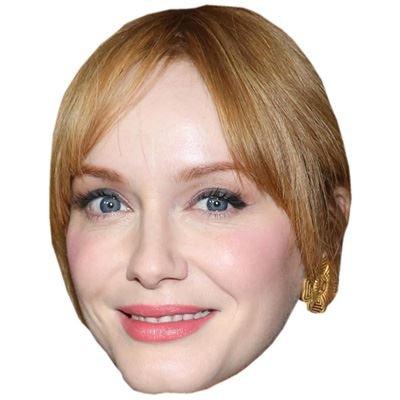 Celebrity Cutouts Christina HendricksCelebrity Maske aus Karton
