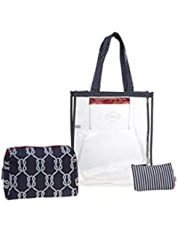 ESBEDA Color D-Blue Printed Pu Synthetic Material Travelling Kit For Women