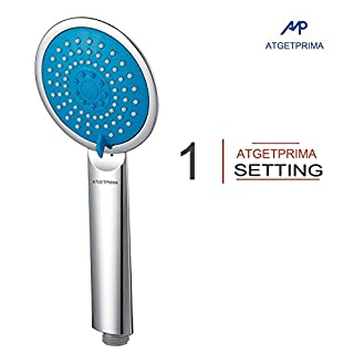 ATGETPRIMA Single Function Handheld Shower Head Chrome Hand Shower AS01BU
