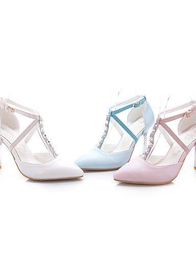 WSS 2016 Chaussures Femme-Bureau & Travail / Décontracté-Bleu / Rose / Blanc-Talon Aiguille-Talons / Bout Pointu-Talons-Polyuréthane blue-us6.5-7 / eu37 / uk4.5-5 / cn37