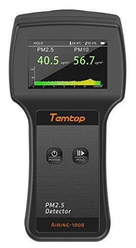 Luftqualität Messgerät -Elitech Messgerät, Testgerät für Feinstaub (PM2,5, PM10) präzises Testen für Häuser, Autos und im Freien