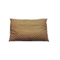 Soft Polycotton Pillow By Valentini Brown Queen size 50 X 75 cm, Polyester