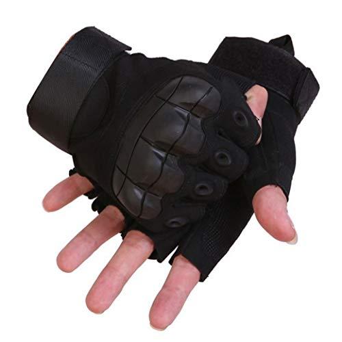 guanti parkour Casecover Guanti Tattici degli Uomini Militare Rigido Knuckle Guanti Senza Dita Guanti Mezzi Esterni per Il Ciclismo Moto