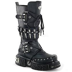Demonia Unisex Veggie Boots DMA-3002 schwarz Gr.39,5