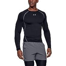 Under Armour Men's UA HeatGear Long Sleeve Breathable Shirt, Black, S