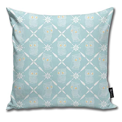 en Weiche Blau Gold Augen Überwurf Kissenbezug für Zuhause Wohnzimmer Couch Sofa Dekoration 45,7 x 45,7 cm ()