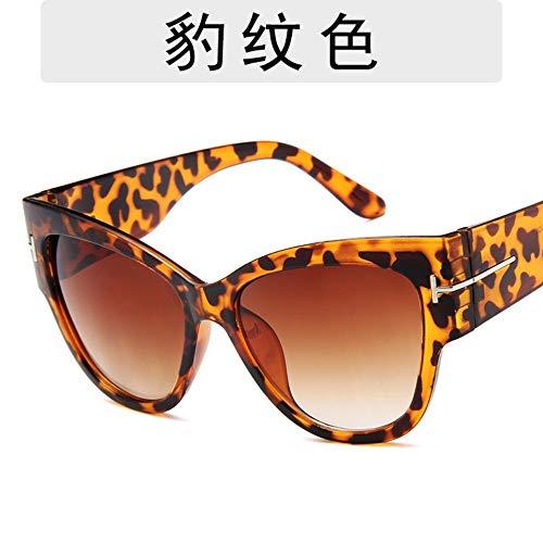 Sonnenbrille Für Männer High-End Fashion T-Förmigen Retro Big Box Sonnenbrille Designer Outdoor Reisen Sport Leichte Und Bequeme Sommer Uv400 Leopard Print
