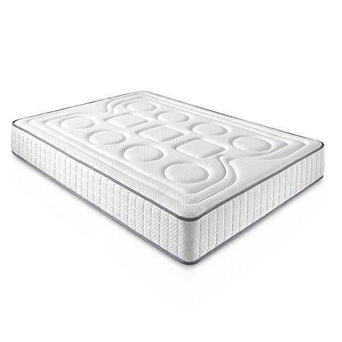 DAGOSTINO HOME Colchón viscoelástico CALIFORNIA 90 x 190 x 20 cm en color blanco - Acogida muy suave con firmeza - (Todas las medidas)
