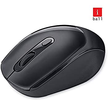 iBall Free Go G50 Feather-Light Wireless Optical Mouse with Wide Compatibility, Black