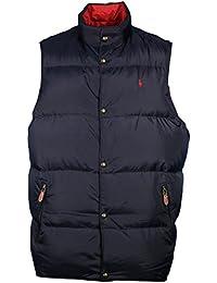 Polo Ralph Lauren revisable body warmer navy/red uk size 2 LT