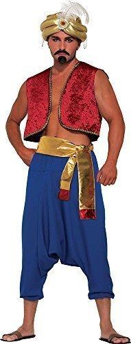 �m Sultan Genie Kostüm Zubehör Wüste Prinz Gold Schärpe (Das Genie Von Aladdin Kostüm)