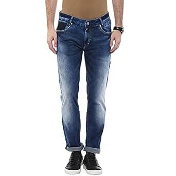 8e9457585e3c Mufti Mens Mid Blue Super Slim FIT Mid Rise Jeans  Amazon.in ...