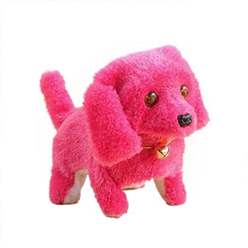 Neues Roboter-nettes elektronisches gehendes Haustier Hund Welpe Kinder Spielzeug mit Musik Licht (Hot Pink) (Hund Licht Mit Spielzeug)