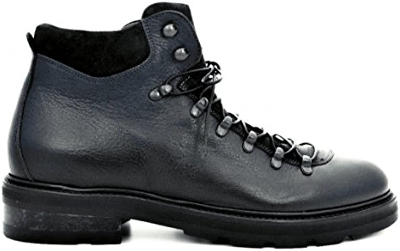 CORVARI Zapatos de Cordones de Piel Para Hombre Azul Turquesa -
