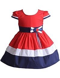 Cinda Tres color niñas vestido de fiesta de verano de algodón
