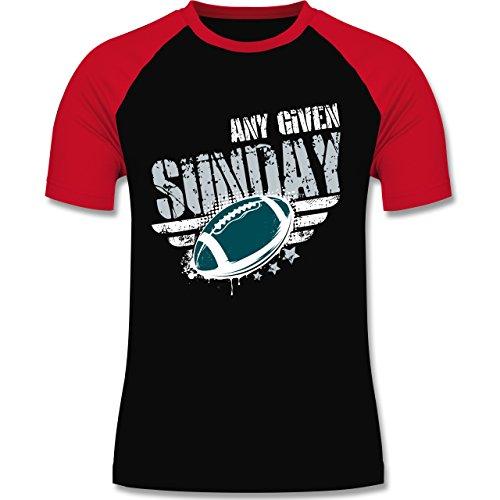 Shirtracer American Football - any Given Sunday Football Philadelphia - Herren Baseball Shirt Schwarz/Rot