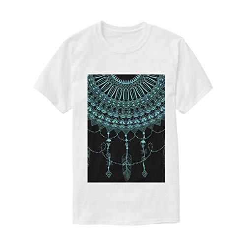 FANTAZIO - Camiseta de Manga Corta para Hombre y Mujer, diseño de atrapasueños, Color Azul 1 L