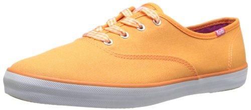 Keds, Donna, Champion Seasonal Solid, Canvas, Sneakers, Arancione, 38 Eur
