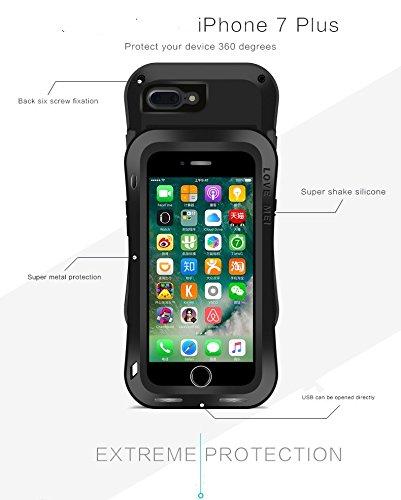iPhone 7 Love Mei Powerful Hybrid Coque, Housse, Cover, de protection imperméable en étanche Antichoc Anti-poussière Etui Housse Couverture waterproof / antichoc / antipoussière / Métal