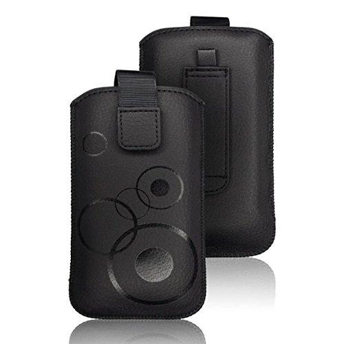 tag-24 Handy Tasche Deko Etui Schutzhülle passend für Haier Phone W858 Farbe schwarz (#960)