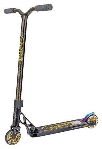 Grit Fluxx Pro Stunt Scooter - Verschiedene Farben, Kinder, B074P6TKVG, Satin Black/Laser Gold, Deck: 102mm Wide x 483mm - Bar: 510mm Wide x 550mm