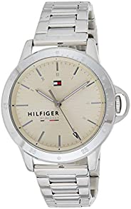 Tommy Hilfiger 1782026 Womens Quartz Watch, Analog Display and Stainless Steel Strap, Beige