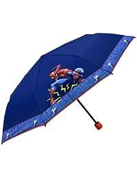Paraguas Plegable Niño Marvel Spiderman - Paraguas Infantil Antiviento Spider Man - Azul con Estampado Hombre
