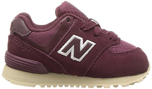 New Balance KL574, Sneakers basses fille Burgundy/Tan