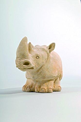 Nashorn - Handarbeit in Sandsteinoptik - 28 x 14 x 19,5 cm