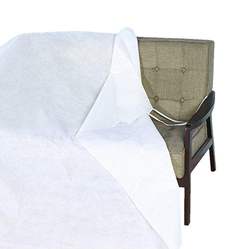 QEES Weiß Staub Möbelschutz Wasserdicht Cover Shelter Vlies Material Atmungsaktiv Dekorationswand Bezug für Bett Sofa Möbel mit Seil können jjz03 126