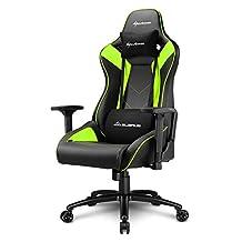 Sharkoon Elbrus 3 Gaming Chair/ Seat, Durable upto 150 Kgs - Black/ Green