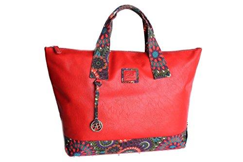 Borsa donna Renato balestra shopping a mano b046.133 rosso
