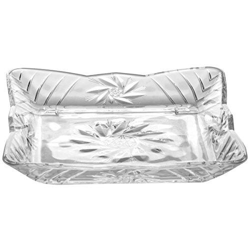 Promobo - Plateau Rangement Vide Poche Luxe En Cristal 17 x 17cm