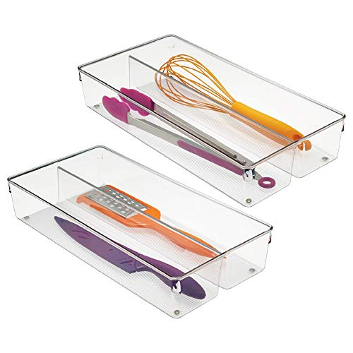 Interdesign Linus Küche Schublade Organizer für Besteck, XXL