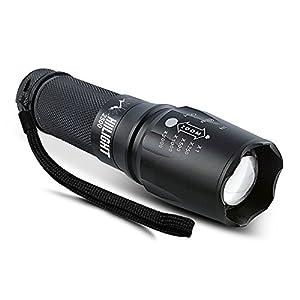 HIILIGHT LED Taschenlampe 2500 mit Zoom für Indoor und Outdoor – Extrem Hell
