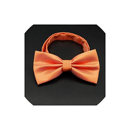 rmal Handels Herr Fliege Bogen Krawatte Bowtie Männlich Fest Farbe Ehe Bow ties für Männer, orange ()