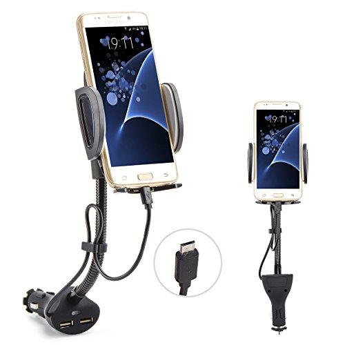 Auto Handy Halterung, 360°drehbar KFZ Halter für Samsung Galaxy S7 S6 Edge und andere Android Smartphone