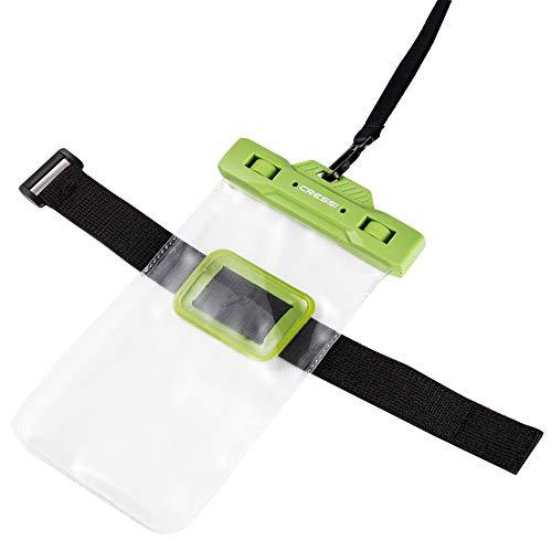 hone Waterproof Bag Wasserdicht Tasche Smartphone, Grün, Uni ()