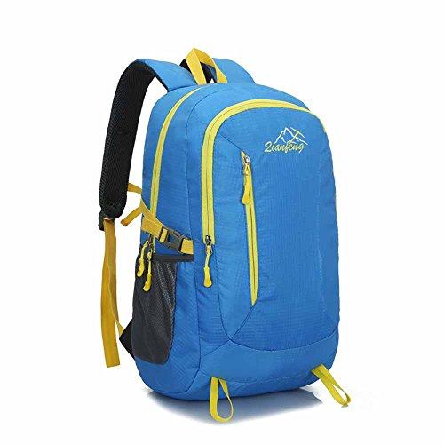 AllureFeng Outdoor wasserdicht Bergsteigen Taschen bulk-Bewegung von Männern und Frauen reisen Fitness pur Rucksack Rucksack Laptop-Tasche Blue