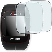 "2 x protectores pantalla Golebo para Polar M400. Lámina protectora adhesiva invisible ""Crystal Clear"". Fabricado en Alemania."