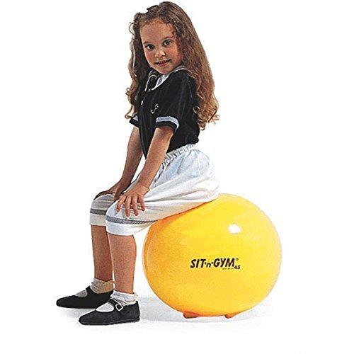 SIT N Gym 3422Sit 'n Gym Jr. 45,7cm gelb Stabilität Ball