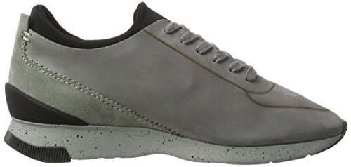 Hudson London Herren sime Nubuck Sneaker Grau (Stone)