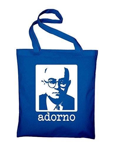 Theodor W. Borsa Di Juta Adorno, Borsa, Borsa Di Stoffa, Borsa Di Cotone, Blu Royal Bordeaux