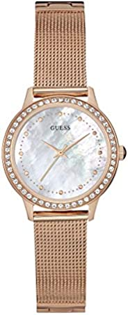 Guess Women's Mother of Pearl Dial Rose Gold Plated Stainless Steel Watch - W06